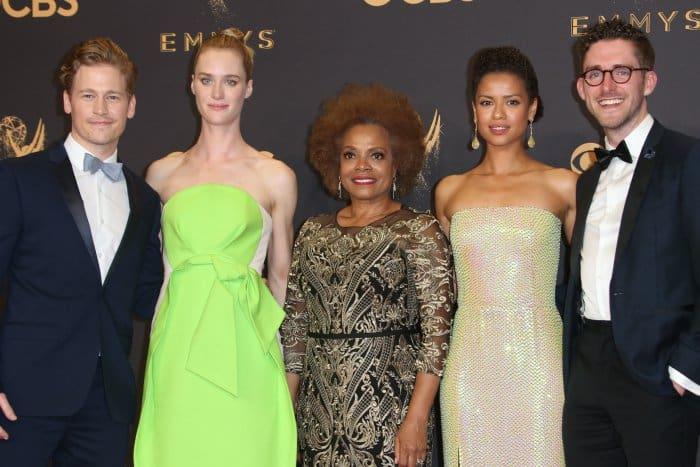 """Black Mirror"" cast at the 69th Emmy Awards press room"
