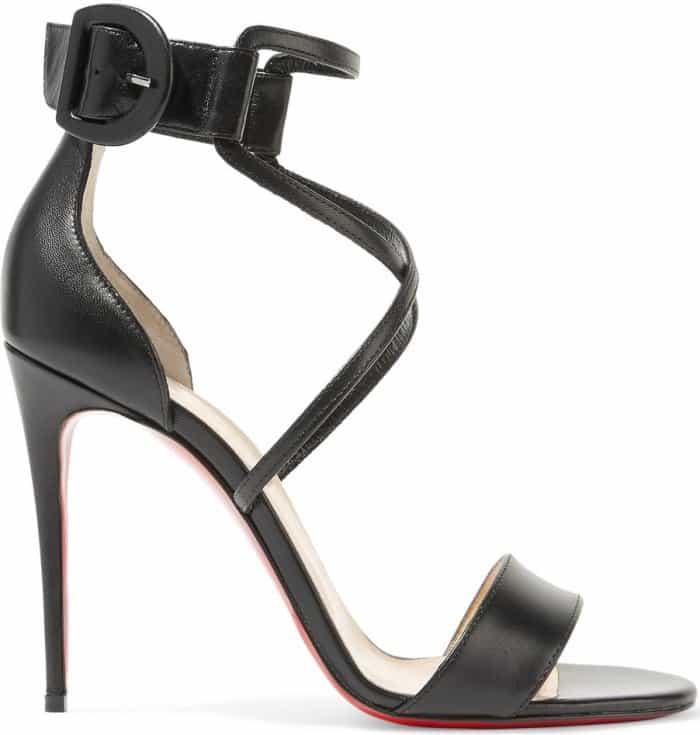 "Christian Louboutin ""Choca"" sandals in black leather"