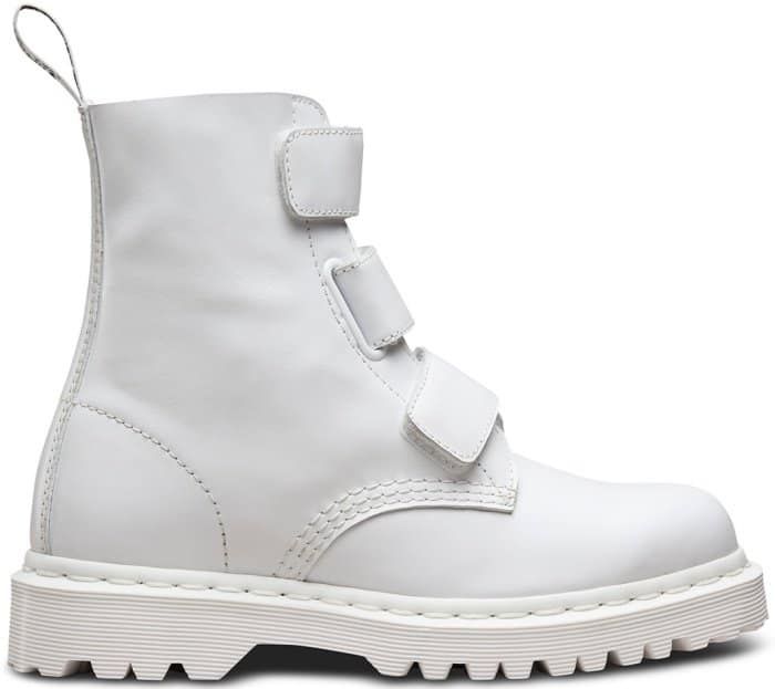 "Dr. Martens ""Coralia"" boots in white Venice leather"