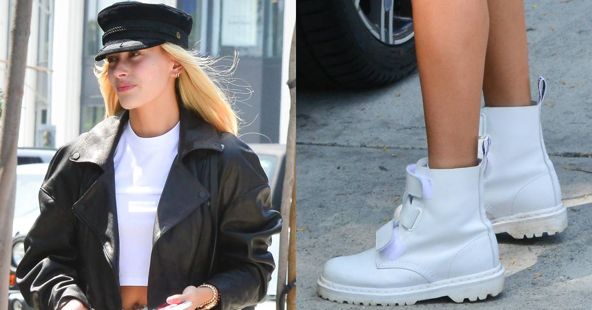Hailey Baldwin Flashes Backside in On Trend White Dr
