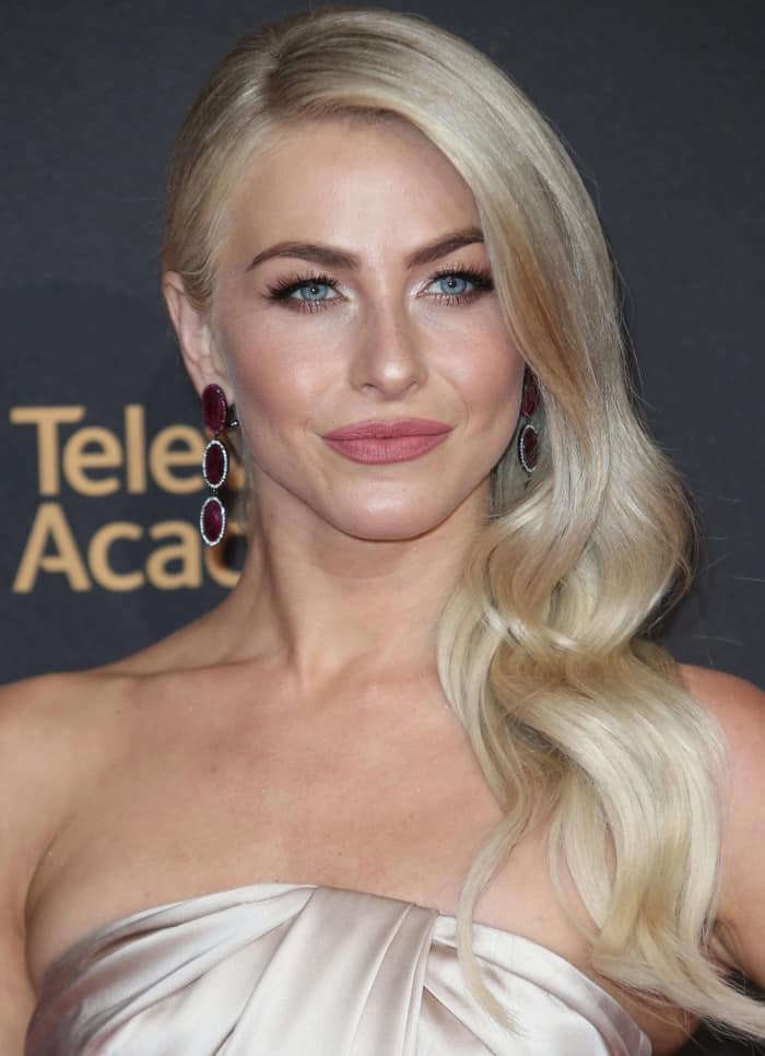 Julianne Hough wearing a Rami Al Ali Spring 2016 Couture gown at the 2017 Creative Arts Emmy Awards