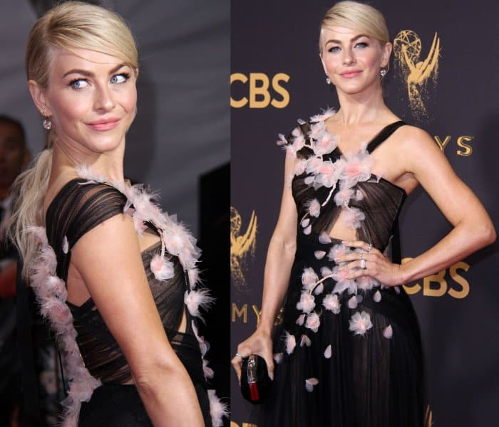 Julianne Hough wearing a Marchesa Spring 2018 gown at the 69th Emmy Awards