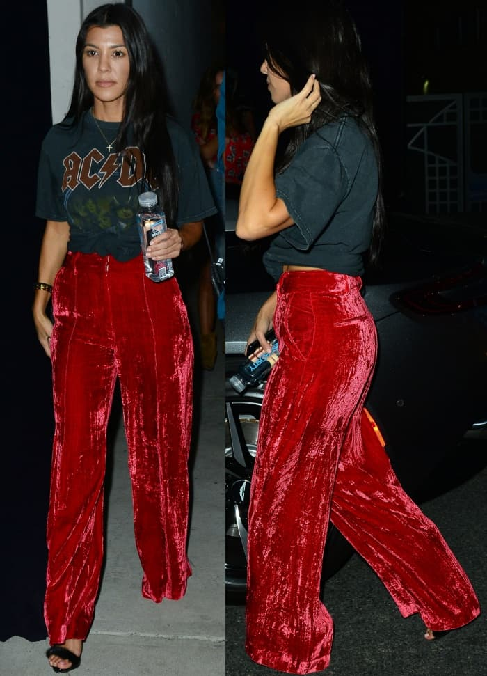 Kendall And Kourtney Attend Church In Balenciaga And