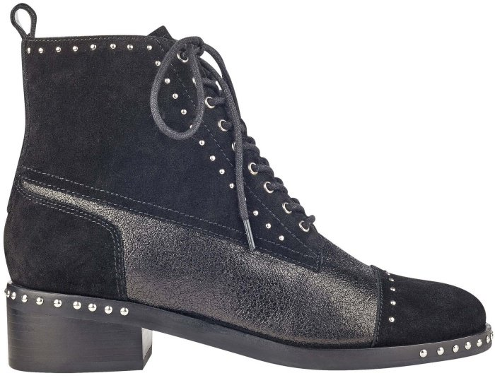 "Marc Fisher LTD ""Cassidey"" stud ankle boots in black suede"