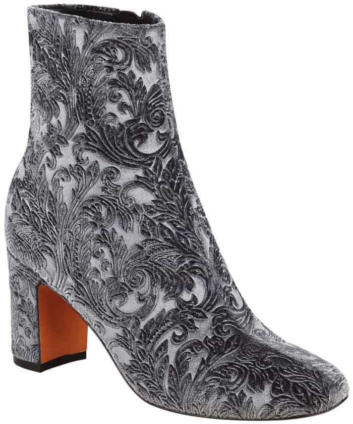 "Marc Fisher LTD ""Grazi2"" ankle boots in dark gray multi fabric"