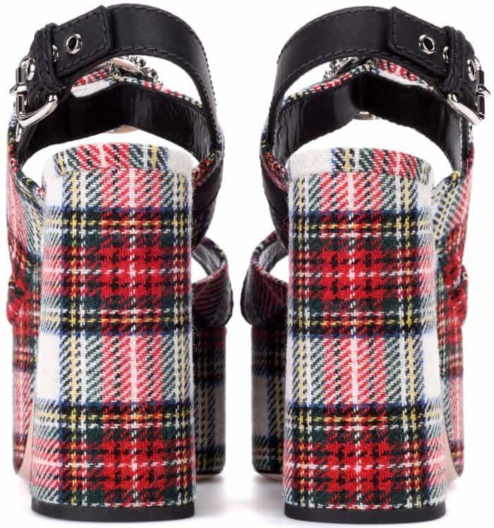 Miu Miu tartan platform sandals