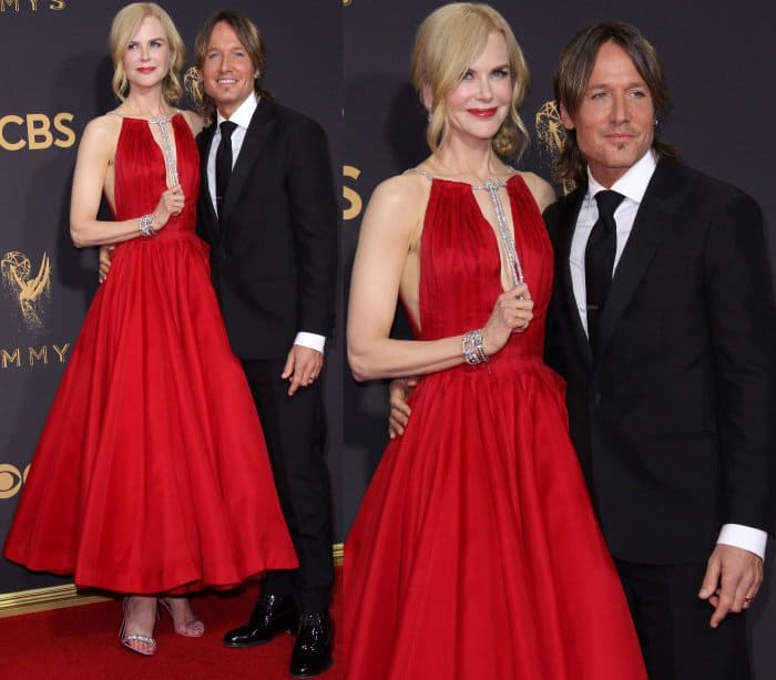 Nicole Kidman with husband Keith Urban at the 69th Emmy Awards