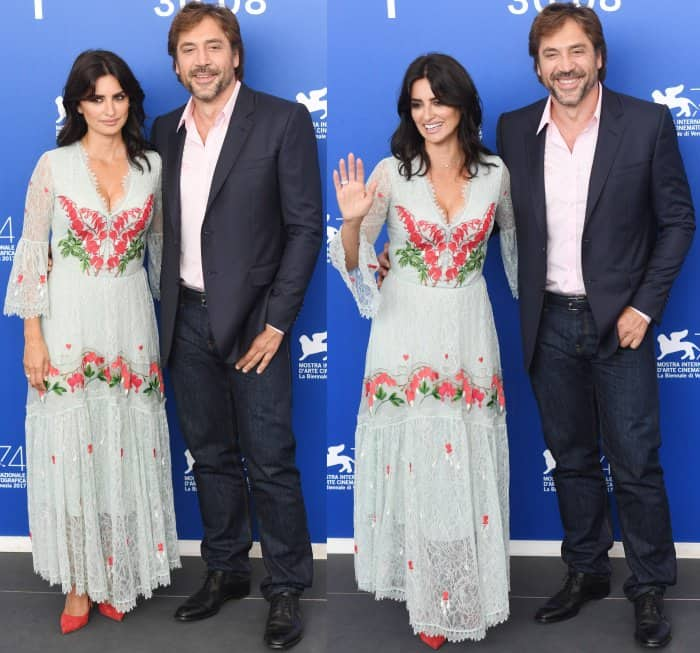"Javier Bardem and Penelope Cruz at the ""Loving Pablo"" photocall during the 74th Venice Film Festival"