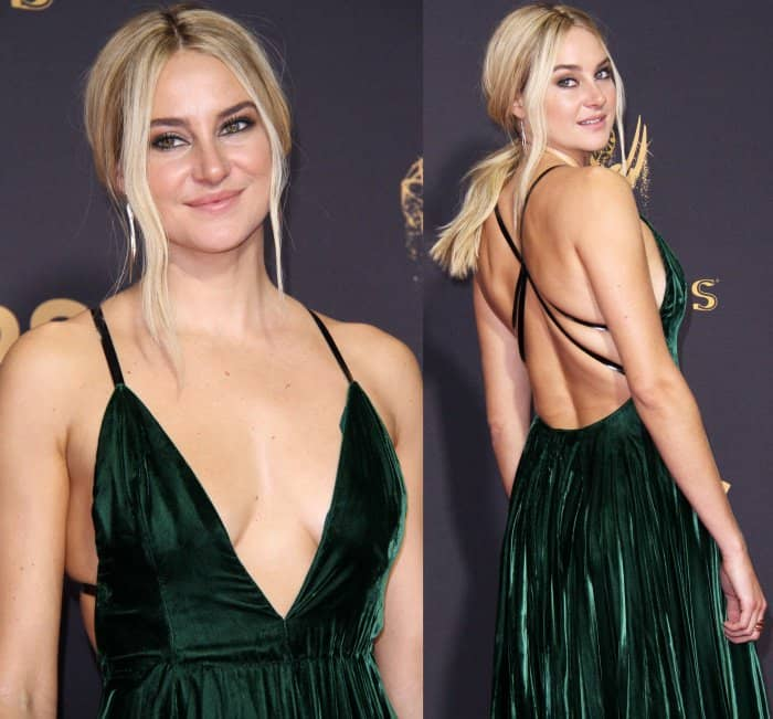 Shailene Woodley wearing a custom Ralph Lauren gown at the 69th Emmy Awards