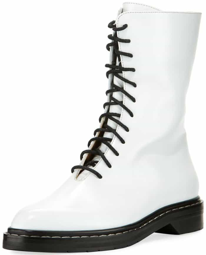 "The Row ""Fara"" lace-up leather combat boots"
