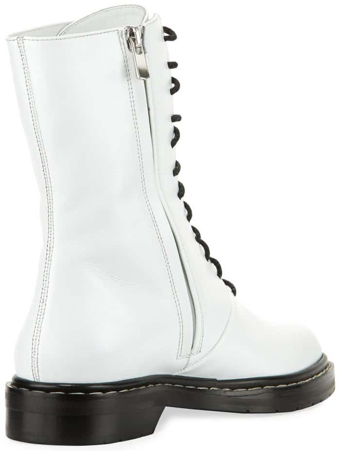 """The Row """"Fara"""" lace-up leather combat boots"""