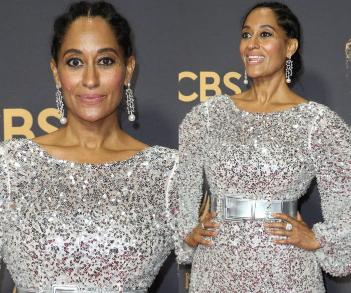 Tracee Ellis Ross wearing a Chanel Spring 2017 Couture gown at the 2017 Emmy Awards