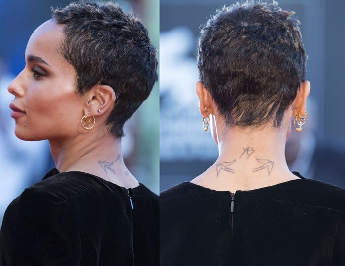 """Zoe Kravitz at the """"Racer and the Jailbird"""" premiere during the 74th Venice Film Festival"""