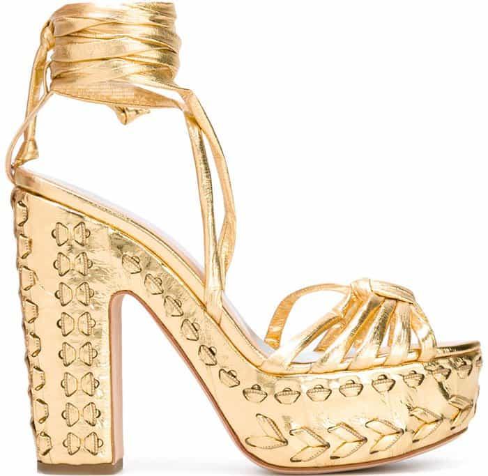 Alchimia di Ballin Eryn eel-skin platform sandals