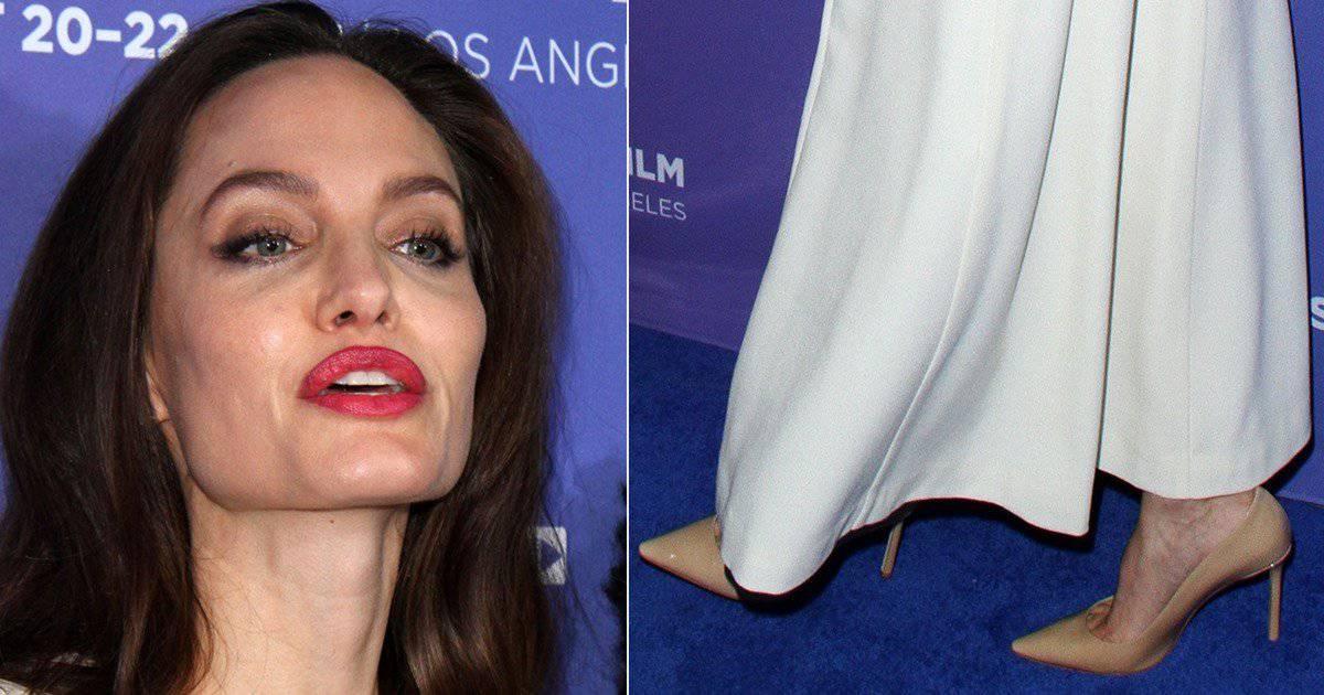 angelina jolie naked foot