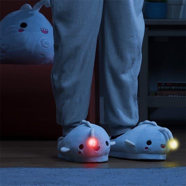 Anglerfish LED Light-up Plush Slippers