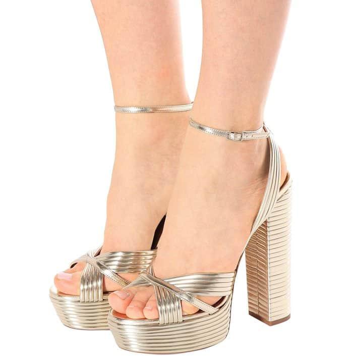 "Aquazzura ""Sundance"" Platform Sandals"