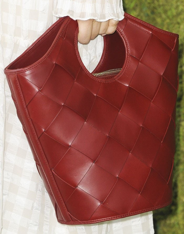 """Camilla goes for the casual """"Market"""" shopper bag from Elizabeth and James"""