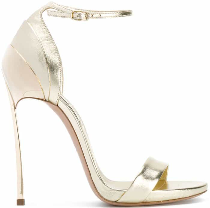Casadei layered ankle strap sandals