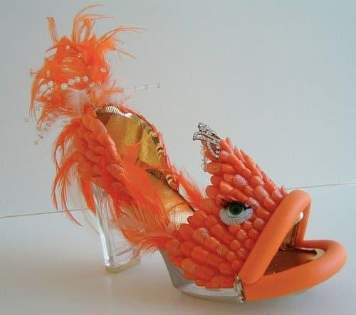 """Robert Tabor """"Fierce Fish"""" Shoe Sculpture"""