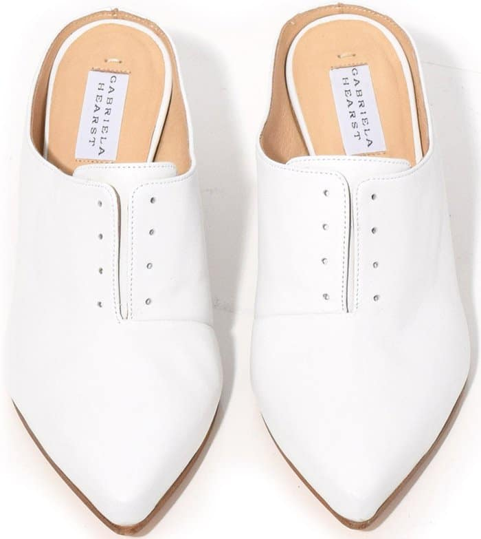 Gabriel Hearst Antoinette mules in optical white