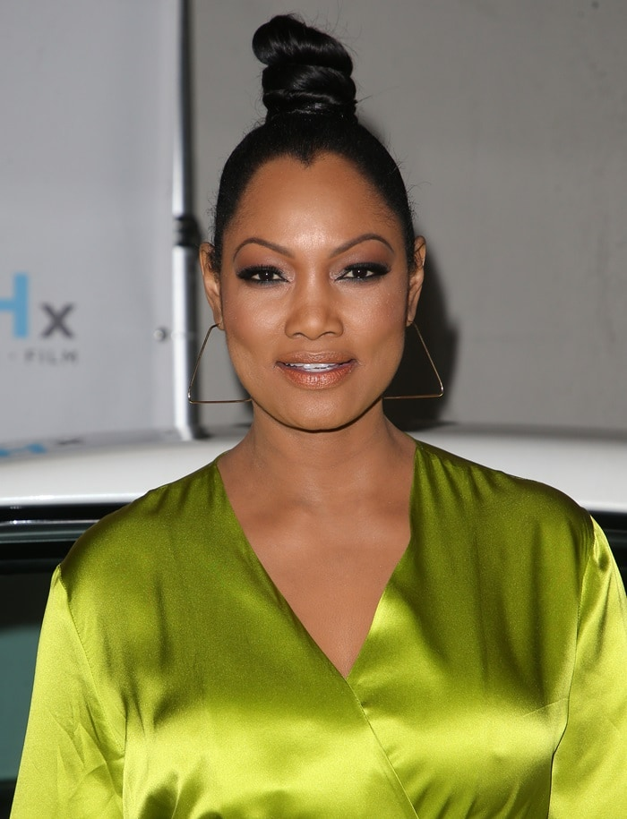 Garcelle Beauvais wore her hair piled up high on top of her head
