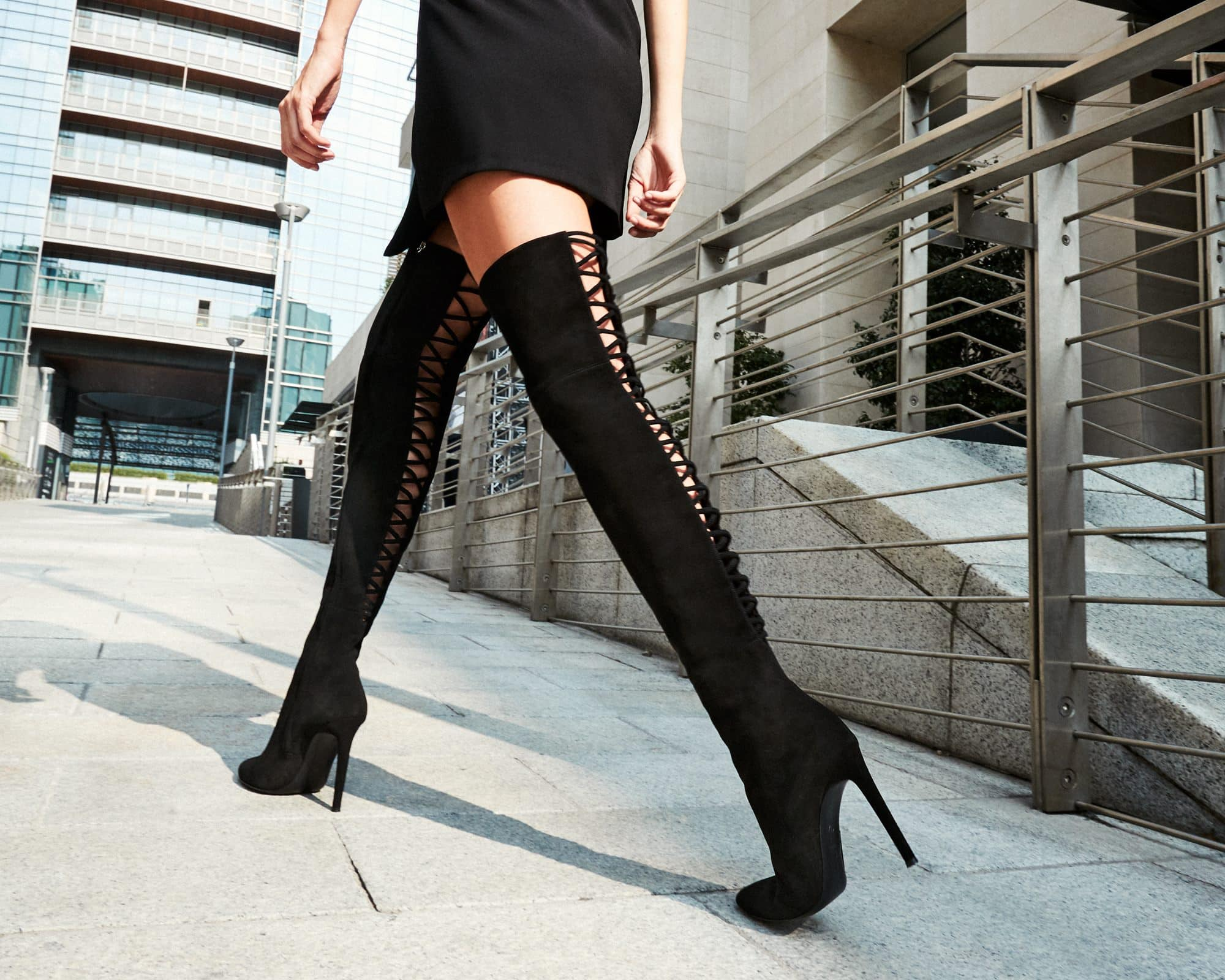 769a2308775 Giuseppe Zanotti s Sleek Over-the-Knee  Alis  Boots With Intricate ...