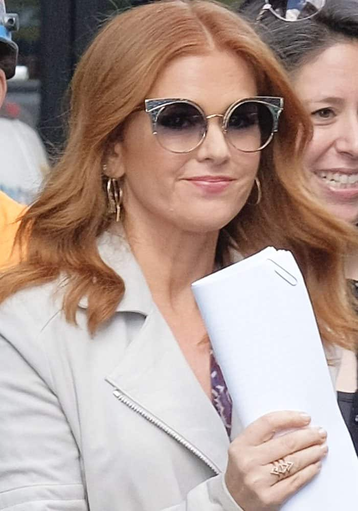 Isla Fisher at the AOL Building in Manhattan on October 4, 2017