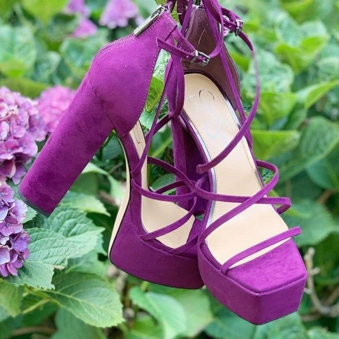 Burgundy Plum Mirelle Platform Sandals