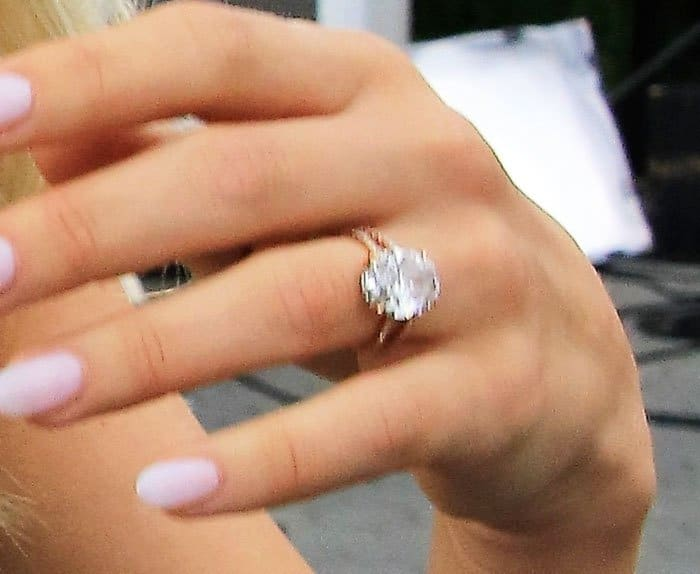 Julianne showed off her gigantic ring after being married for almost three months