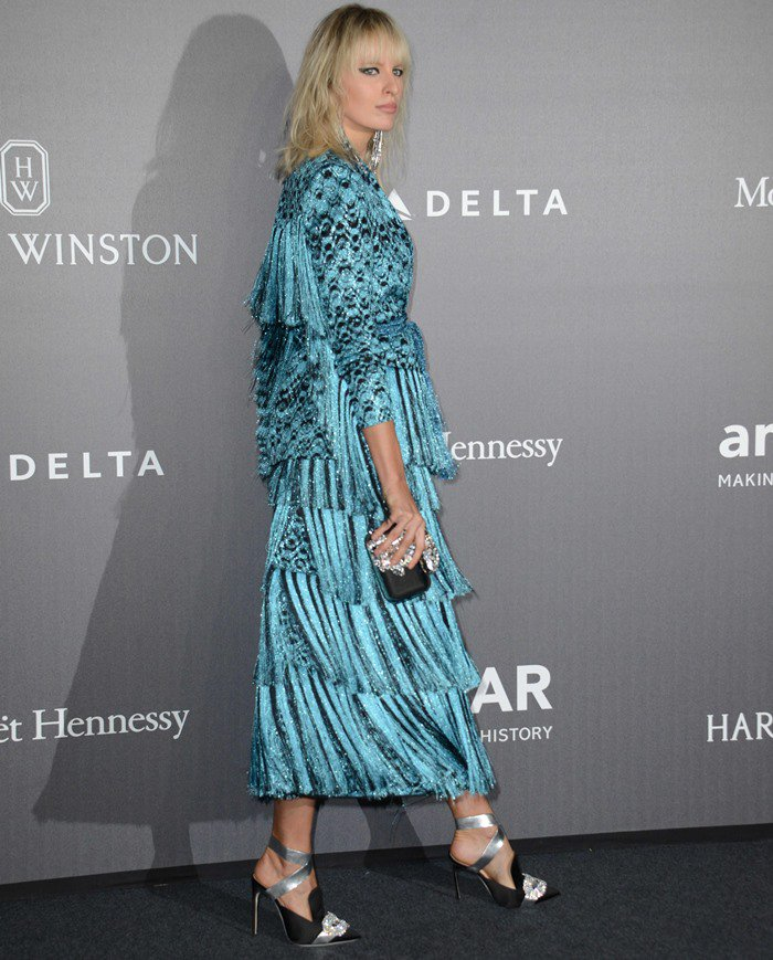 Karolina Kurkova graced the event with her stunning presence in a textured Missoni number from the label's Resort 2018 collection