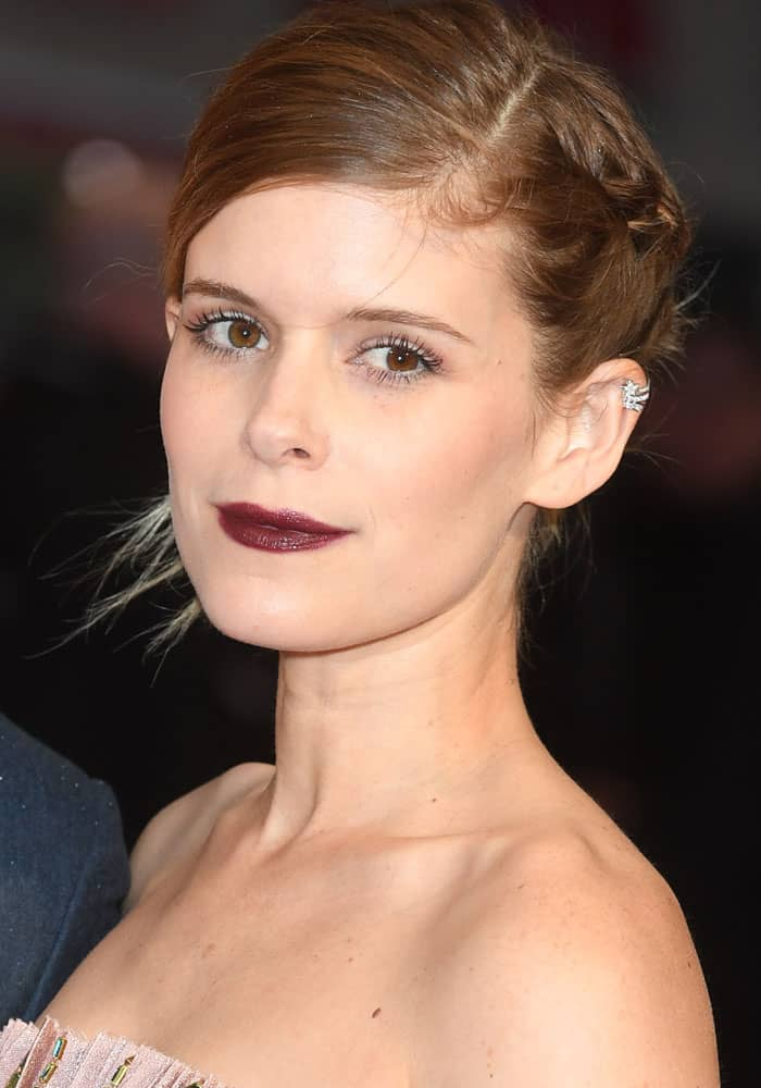 """Kate Mara at the BFI LFF European Premiere of """"Film Stars Don't Die in Liverpool"""" held at the Odeon Leicester Square in London on October 11, 2017"""