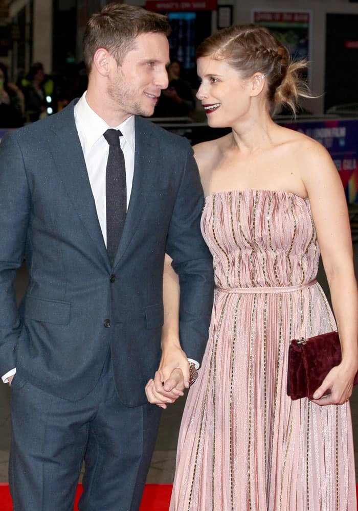 The adorable couple stays close together even on the red carpet