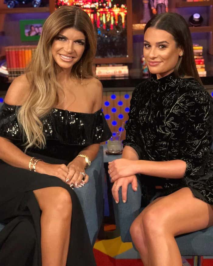 """Lea uploads a photo with """"Real Housewives of New Jersey"""" star Teresa Giudice"""
