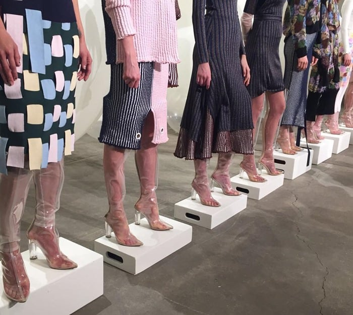 Image shared by @mbfw with the caption 'Perspex formation at @PH5Official's presentation. #PH5Girls #AnnaGray #NYFW #MercedesBenzFashion #SpaceMatters'