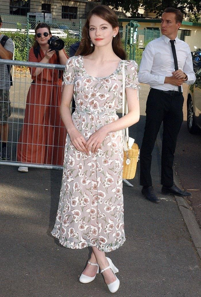 Mackenzie Foy attends Miu Miu club event at Hippodrome d'Auteuil