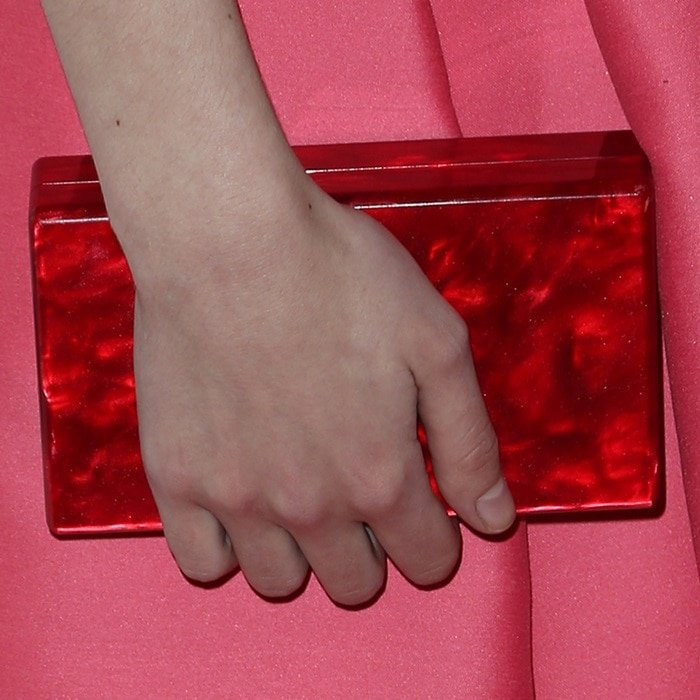 The starlet carrying an Edie Parker 'Jean' clutch