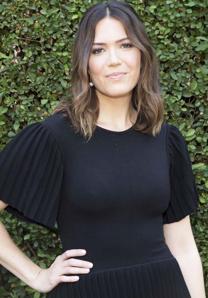 "Mandy Moore at The Rape Foundation's annual brunch honoring the cast of ""This is Us"" in Los Angeles on October 8, 2017"