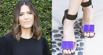 9d51a2142fe Mandy Moore Sports Pierre Hardy  Obi  Sandals at  This Is Us  Event