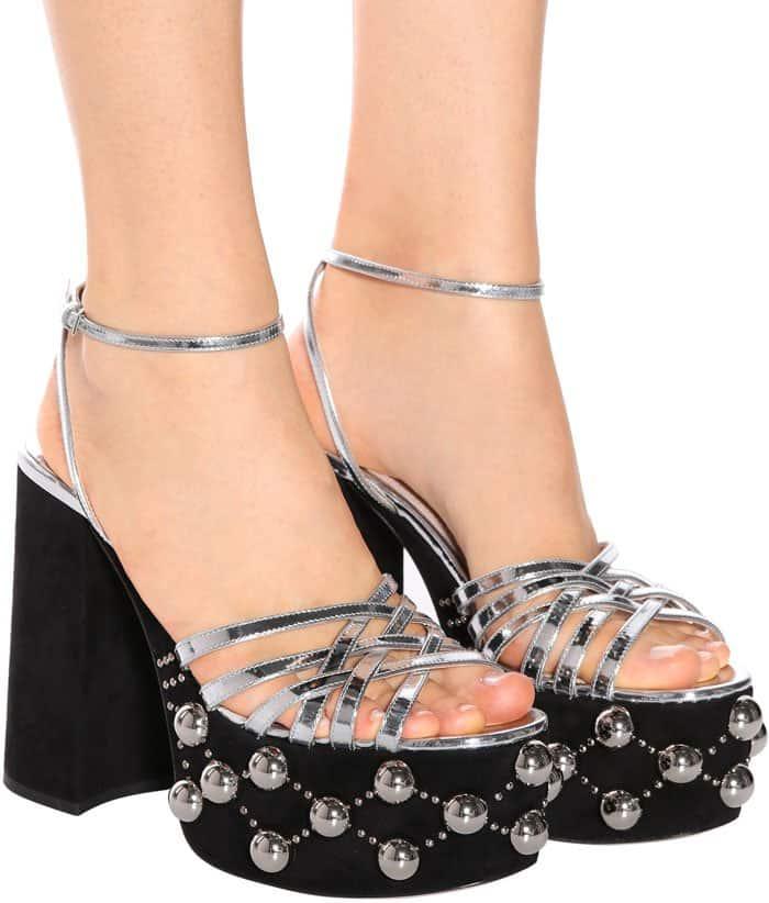 Dakota And Elle Fanning Wear Embellished Miu Miu Sandals