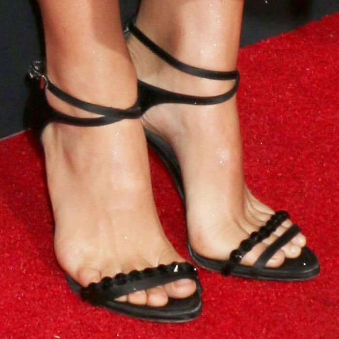 The actress wears Dior heels that was last spotted on her in 2015