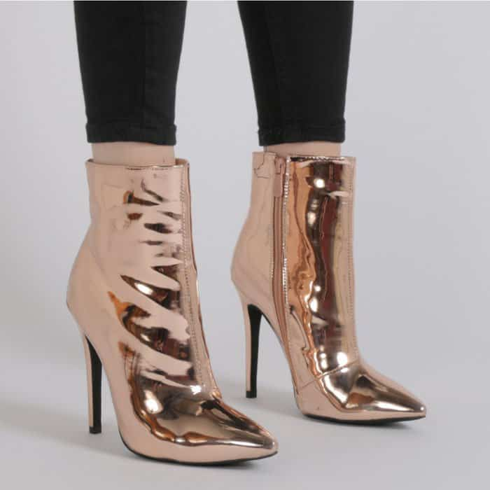 """Public Desire """"Harlee"""" Rose Gold Boots"""