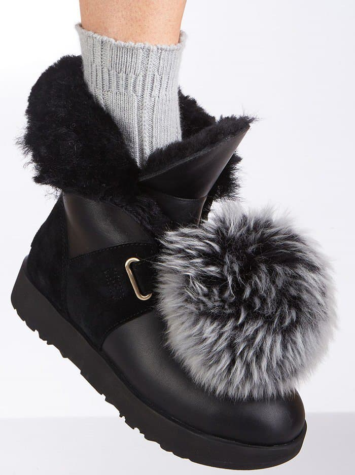 UGG Isley Water-Resistant Boot with Removable Pompom