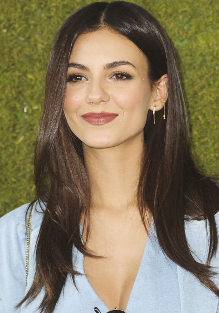 Victoria Justice at the 8th Veuve Clicquot Polo Classic held at the Will Rogers State Historic Park in the Pacific Palisades neighbourhood of Los Angeles, California on October 14, 2017
