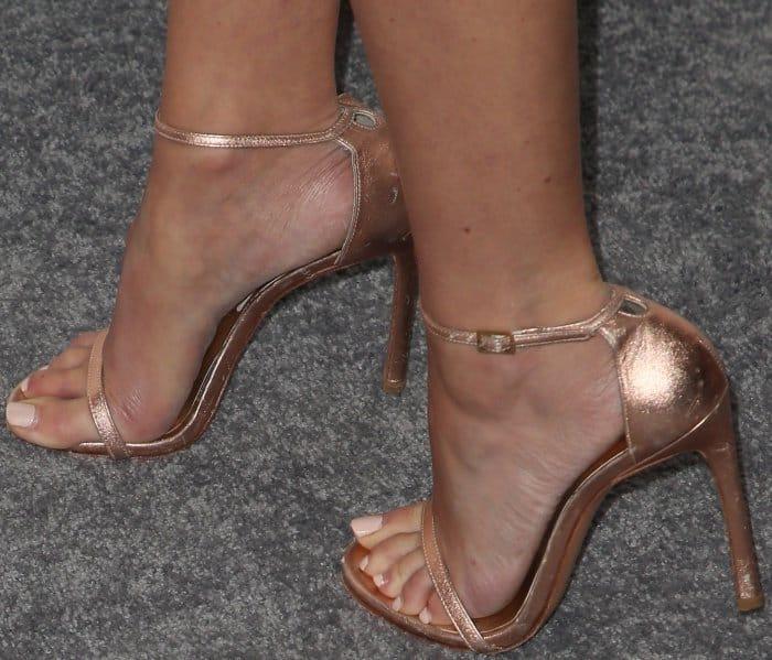 Cara Santana wearing Stuart Weitzman sandals at Elle's 24th Annual Women in Hollywood Celebration