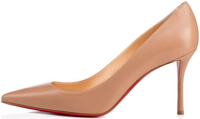 "Christian Louboutin ""Decoltish"" pumps in nude leather"