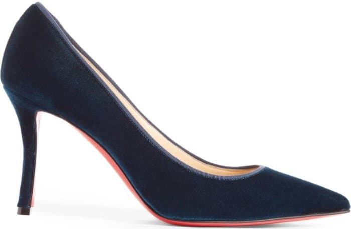 "Christian Louboutin ""Decoltish"" pumps in petrol velvet"