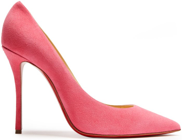 "Christian Louboutin ""Decoltish"" pumps in pink suede"