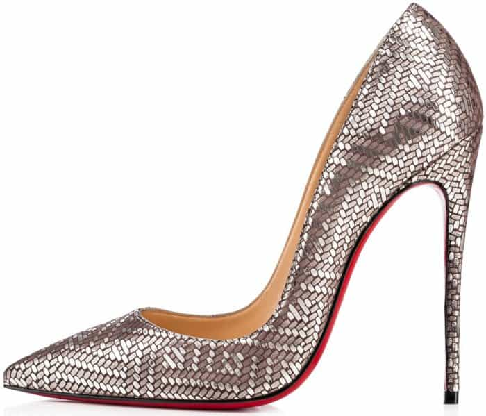 "Christian Louboutin ""So Kate"" pumps in antic silver"