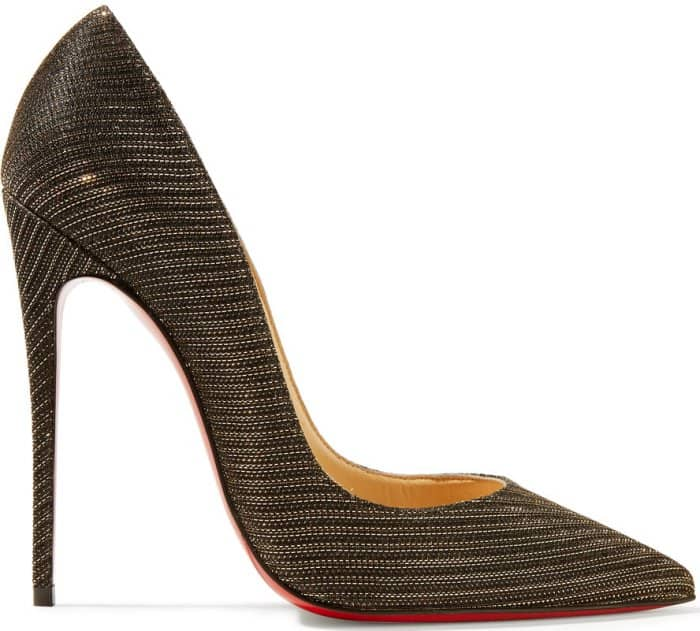"Christian Louboutin ""So Kate"" pumps in metallic canvas"